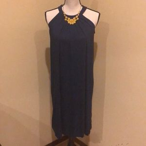Isabella Oliver flowy maternity dress in Navy